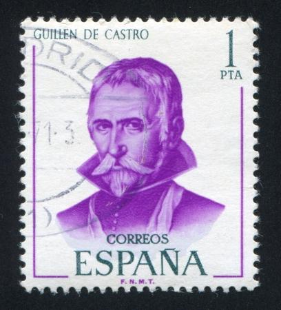 SPAIN - CIRCA 1970: stamp printed by Spain, shows Guillen de Castro, circa 1970 Stock Photo - 17145268