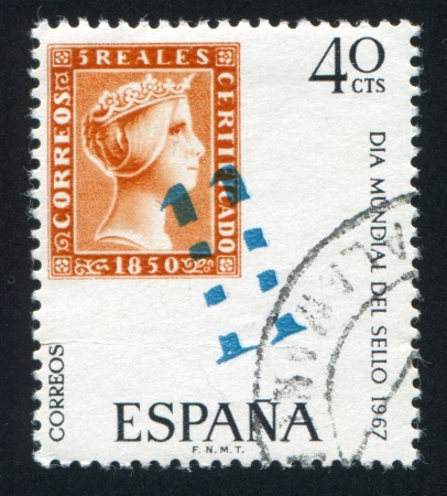 SPAIN - CIRCA 1976: stamp printed by Spain, shows Isabella, circa 1976