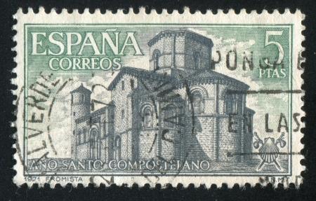 window seal: SPAIN - CIRCA 1971: stamp printed by Spain, shows San Martın de Fromista, circa 1971