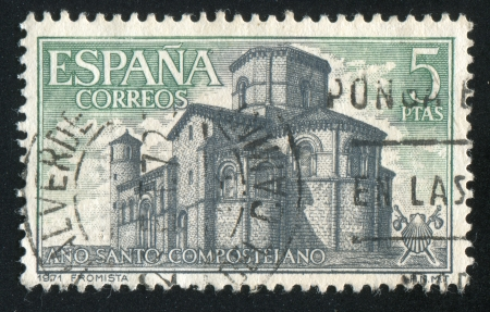 SPAIN - CIRCA 1971: stamp printed by Spain, shows San Martın de Fromista, circa 1971 Stock Photo - 17145526