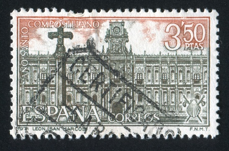 SPAIN - CIRCA 1971: stamp printed by Spain, shows San Marcos de Leon, circa 1971 Stock Photo - 17145440