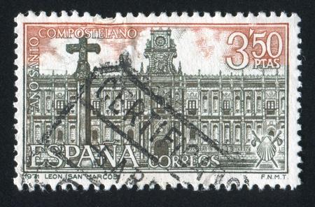 SPAIN - CIRCA 1971: stamp printed by Spain, shows San Marcos de Leon, circa 1971 Stock Photo - 17145440