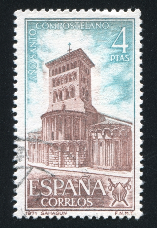SPAIN - CIRCA 1971: stamp printed by Spain, shows San Tirso de Sahagun, circa 1971 Stock Photo - 17145576