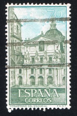 SPAIN - CIRCA 1961: stamp printed by Spain, shows Views of Escorial, circa 1961 Stock Photo - 17145788
