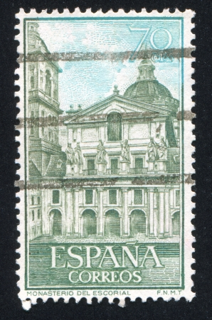 SPAIN - CIRCA 1961: stamp printed by Spain, shows Views of Escorial, circa 1961 Stock Photo - 17145788