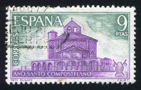 SPAIN - CIRCA 1971: stamp printed by Spain, shows Santa Maria de Eunate, circa 1971 Stock Photo - 17145481