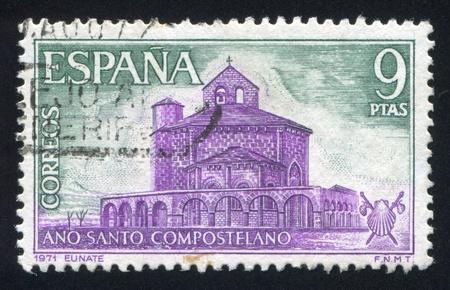 SPAIN - CIRCA 1971: stamp printed by Spain, shows Santa Maria de Eunate, circa 1971 Stock Photo - 17145481