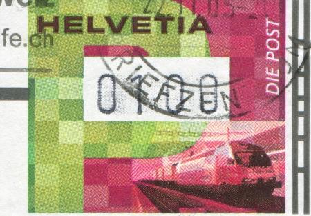 SWITZERLAND - CIRCA 2001: stamp printed by Switzerland, shows Train, circa 2001