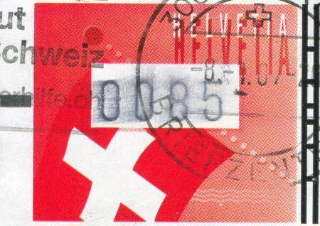 polity: SWITZERLAND - CIRCA 2005: stamp printed by Switzerland, shows Swiss flag, circa 2005