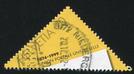 upu: SWITZERLAND - CIRCA 1999: stamp printed by Switzerland, shows Sheet of paper, circa 1999