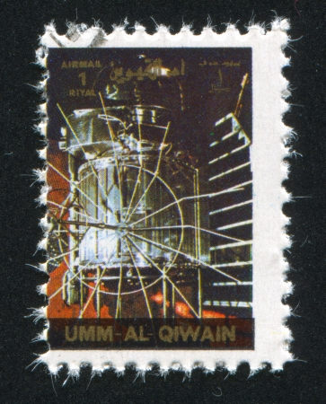 UMM AL-QUWAIN - CIRCA 1972: stamp printed by Umm al-Quwain, shows Gemini Spacecraft, circa 1972 Stock Photo - 17145457