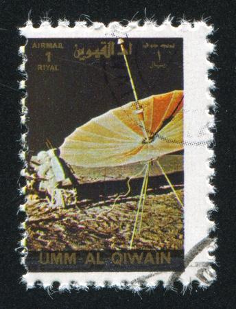 UMM AL-QUWAIN - CIRCA 1972: stamp printed by Umm al-Quwain, shows Gemini Spacecraft, circa 1972 Stock Photo - 17145350