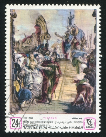 YEMEN - CIRCA 1972: stamp printed by Yemen, shows a Painting by Tiepolo, circa 1972 Stock Photo - 17145447