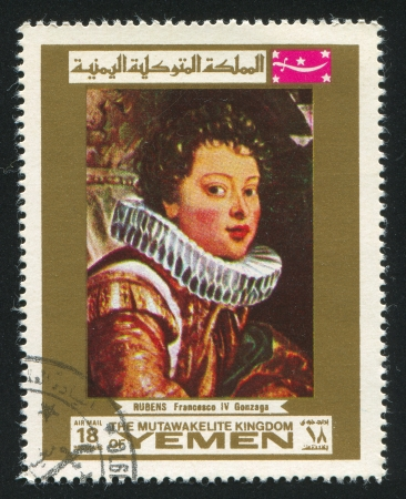 YEMEN - CIRCA 1972: stamp printed by Yemen, shows Francesco Gonzaga by Rubens, circa 1972 Stock Photo - 17145218