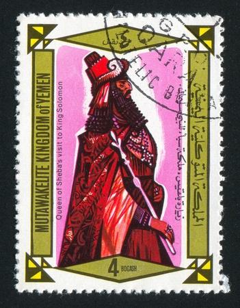 king solomon: YEMEN - CIRCA 1968: stamp printed by Yemen, shows King Solomon, circa 1968 Editorial