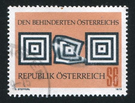 "incapacitated: AUSTRIA - CIRCA 1978: stamp printed by Austria, shows  ""Aid to the Handicapped"", circa 1978"