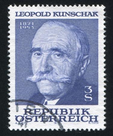 leopold: AUSTRIA - CIRCA 1978: stamp printed by Austria, shows Leopold Kunschak, circa 1978 Editorial