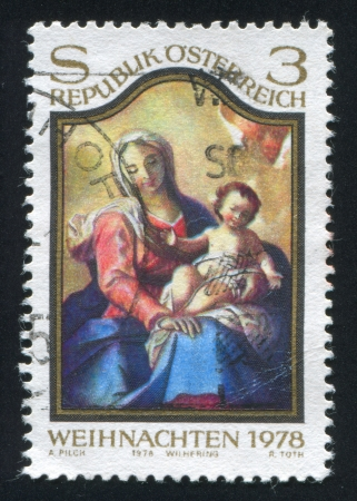 vestment: AUSTRIA - CIRCA 1978: stamp printed by Austria, shows Virgin and Child picture, circa 1978 Editorial