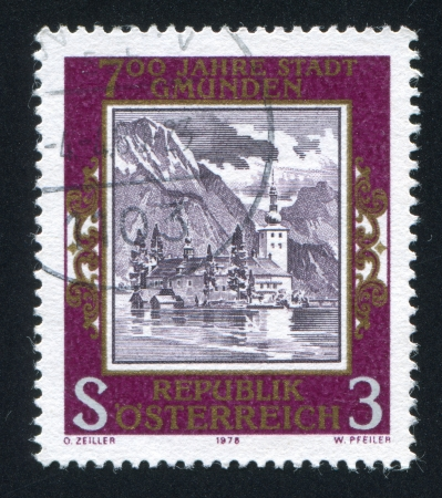 AUSTRIA - CIRCA 1978: stamp printed by Austria, shows Ort Castle, Gmunden, circa 1978