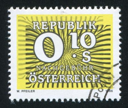 republik: AUSTRIA - CIRCA 1986: stamp printed by Austria, shows Inscription Republik Osterreich, circa 1986