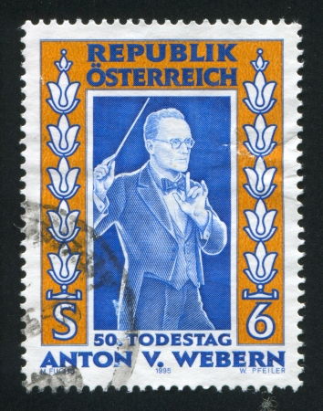 anton: AUSTRIA - CIRCA 1995: stamp printed by Austria, shows Anton von Webern, circa 1995