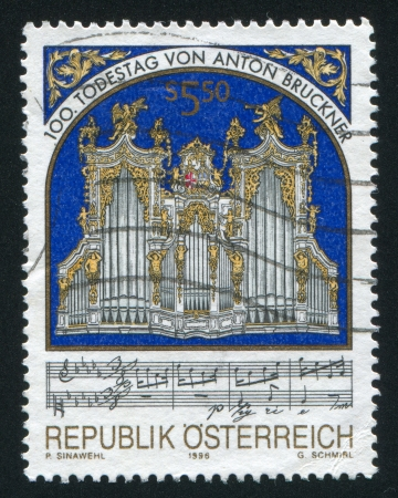 AUSTRIA - CIRCA 1996: stamp printed by Austria, shows Organ, circa 1996 Stock Photo - 17437475