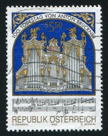 AUSTRIA - CIRCA 1996: stamp printed by Austria, shows Organ, circa 1996 Stock Photo - 17437475