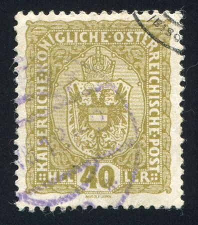 AUSTRIA - CIRCA 1916: stamp printed by Austria, shows crown and eagle, circa 1916