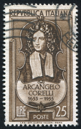ITALY - CIRCA 1953: stamp printed by Italy, shows Arcangelo Corelli, circa 1953 Stock Photo - 17437420