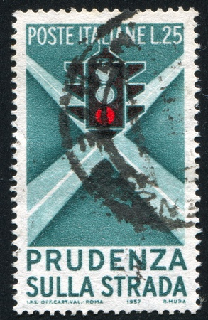 ITALY - CIRCA 1957: stamp printed by Italy, shows Traffic Light, circa 1957
