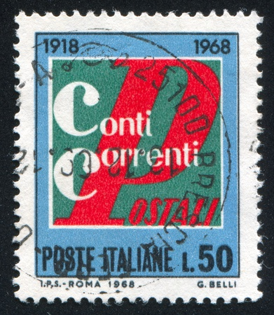 ITALY - CIRCA 1968: stamp printed by Italy, shows Emblem, circa 1968