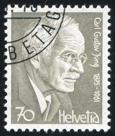 carl: SWITZERLAND - CIRCA 1978: stamp printed by Switzerland, shows Carl Gustav Jung, circa 1978