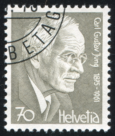 SWITZERLAND - CIRCA 1978: stamp printed by Switzerland, shows Carl Gustav Jung, circa 1978