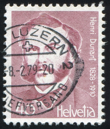 SWITZERLAND - CIRCA 1978: stamp printed by Switzerland, shows Henri Dunant, circa 1978