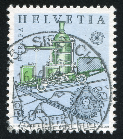 forcer: SWITZERLAND - CIRCA 1983: stamp printed by Switzerland, shows Cog railway, circa 1983