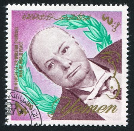 YEMEN - CIRCA 1972: stamp printed by Yemen, shows Winston Churchill, circa 1972 Stock Photo - 17464472
