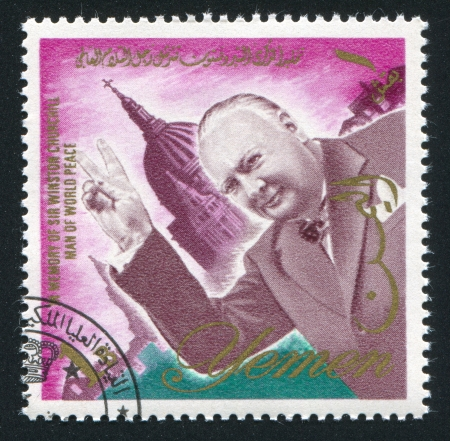 YEMEN - CIRCA 1972: stamp printed by Yemen, shows Winston Churchill, circa 1972 Stock Photo - 17464567