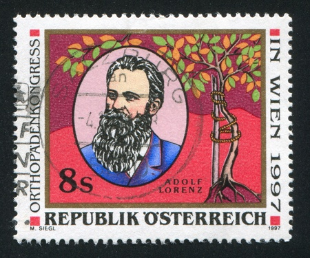 AUSTRIA - CIRCA 1997: stamp printed by Austria, shows Adolph Lorenz, circa 1997 Stock Photo - 17837745