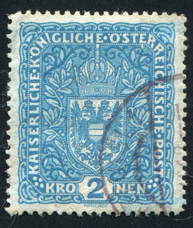 AUSTRIA - CIRCA 1916: stamp printed by Austria, shows crown and eagle, circa 1916 Stock Photo - 17837865
