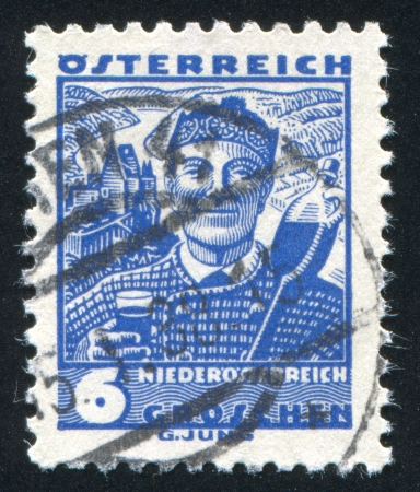 AUSTRIA - CIRCA 1932: stamp printed by Austria, shows Costumes in Lower Austria, circa 1932 Stock Photo - 17809714
