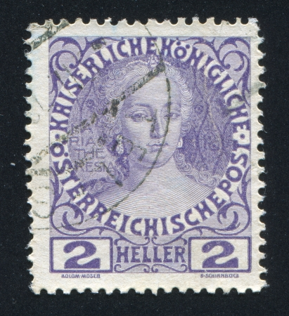 AUSTRIA - CIRCA 1898: stamp printed by Austria, shows Maria Theresa, circa 1898 Stock Photo - 17837846