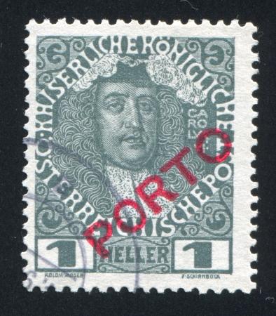 AUSTRIA - CIRCA 1904: stamp printed by Austria, shows Karl VI, circa 1904 Stock Photo - 17837752