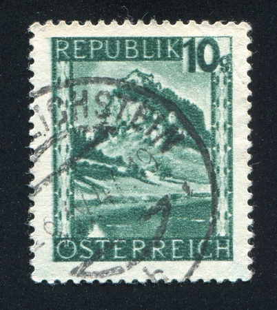 AUSTRIA - CIRCA 1945: stamp printed by Austria, shows Hochosterwitz, Carinthia, circa 1945 Stock Photo - 17837855