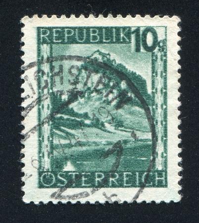 AUSTRIA - CIRCA 1945: stamp printed by Austria, shows Hochosterwitz, Carinthia, circa 1945 Stock Photo - 17837855