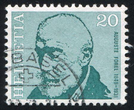 boffin: SWITZERLAND - CIRCA 1971: stamp printed by Switzerland, shows Auguste Forel, circa 1971 Editorial