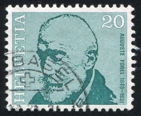 SWITZERLAND - CIRCA 1971: stamp printed by Switzerland, shows Auguste Forel, circa 1971 Editorial