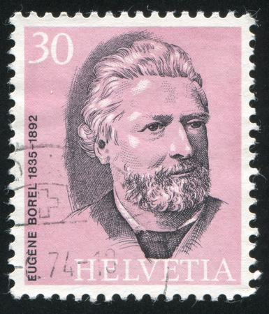 postmaster: SWITZERLAND - CIRCA 1974: stamp printed by Switzerland, shows Eugene Borel, circa 1974 Editorial