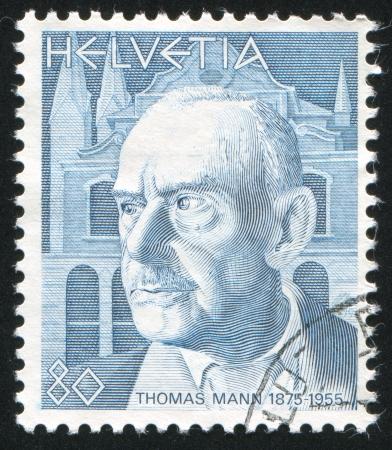 SCHWEIZ - CIRCA 1978: Stempel gedruckt von der Schweiz, zeigt Thomas Mann, circa 1978