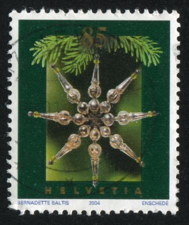 SWITZERLAND - CIRCA 2001: stamp printed by Switzerland, shows Christmas, circa 2001 Stock Photo - 17809607