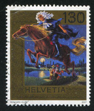 SWITZERLAND - CIRCA 2007: stamp printed by Switzerland, shows The judge of Bellinzona, circa 2007 Stock Photo - 17837861